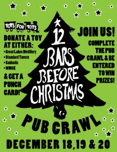 12 Bars Before Christmas and Toys For Tots @ Sabbatic | Milwaukee | Wisconsin | United States