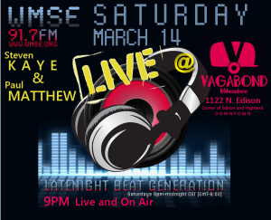 "WMSE Live Broadcast  w/ DJs Steven Kaye and Paul Matthew's ""Late Night Beat Generation"" @ Vagabond 
