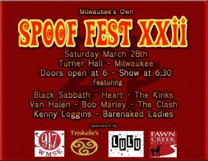 WMSE Presents Spoof Fest  XXII @ Turner Hall Ballroom  | Milwaukee | Wisconsin | United States