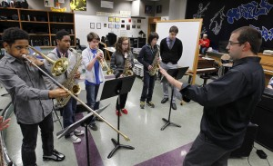 in-studio performance: The Maple Dale Jazz Ensemble