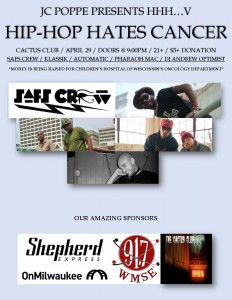 Hip Hop Hates Cancer @ Cactus Club | Milwaukee | Wisconsin | United States