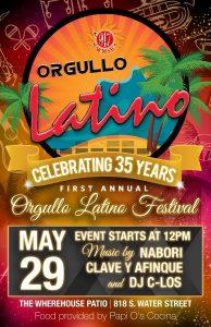 Orgullo Latino festival flyer