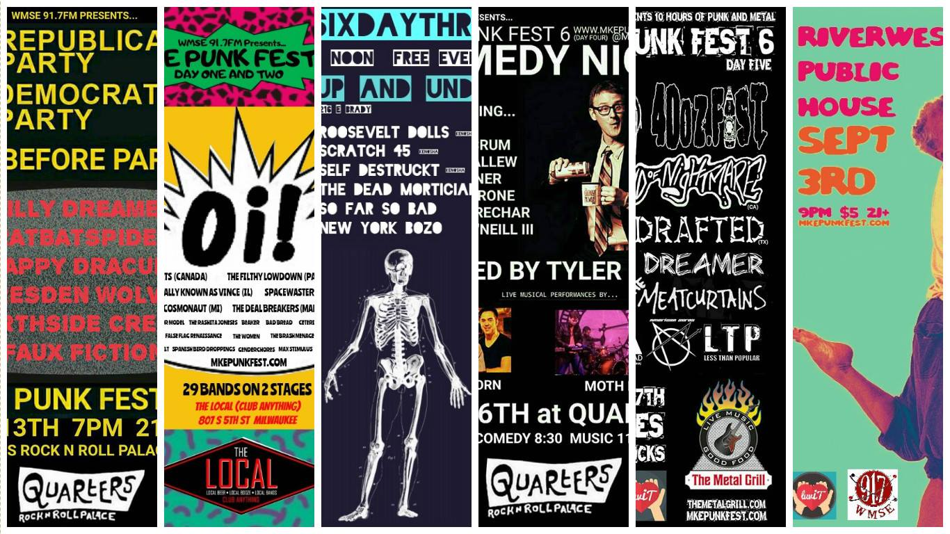WMSE Presents MKE Punk Fest 6 4 Weeks Of All Over Milwaukee We Are Absolutely Thrilled To Be A Part It Check Listing Shows Below