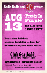 Pretty in Purple Retro Dance Party to Benefit Pancreatic and Breast Cancer @ Club Garibadli | Milwaukee | Wisconsin | United States