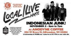 LOCAL/LIVE: NOVEMBER 2 – INDONESIAN JUNK @ ANODYNE ON BRUCE